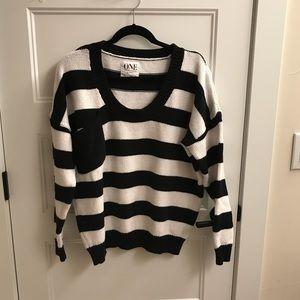 ONE by One Teaspoon Black+White Stripe Sweater